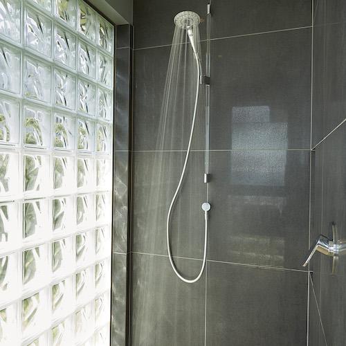 Shower in new Waiheke house